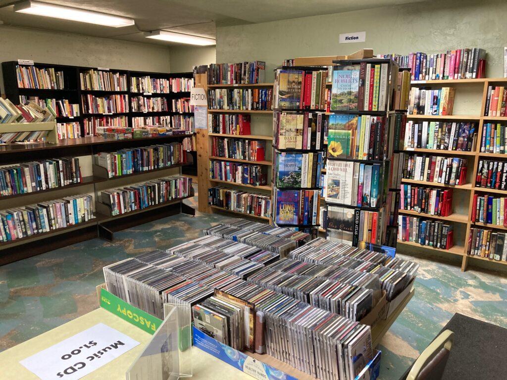basement book sale at konkle